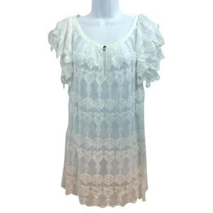 ALICE by Temperley White Lace Shift Uk 12 Dress